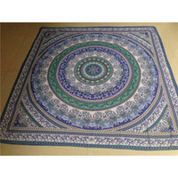 Wholesale Indian Mandala Square Chiffon Scarf Beach Throw Tapestry Hippy Boho Gypsy Cotton Tablecloth Beach Towel