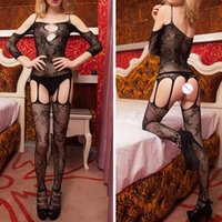 adult toys and lingerie - Adult Games Women s Body Stocking Open Crotch Bodystocking Sexy Lingerie Bodysuit Costume Black for Couple Sexy Toys XC0075