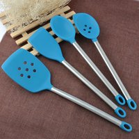 Wholesale Stainless steel handle Silicone Kitchen Utensil Piece Cooking Set