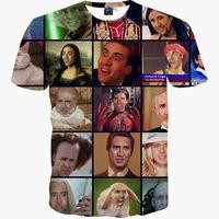 animal rage - Funny T shirt men summer tops tees print Nicolas Cage Rage Animal stars slim d t shirt short sleeve t shirt Asia M XXL