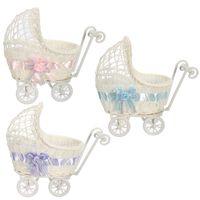 Wholesale Brand New Colors Wicker Hamoer Pram Basket Baby Shower Party Xmas Gift Present Organizer Decor x11x23cm