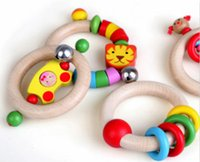 Wholesale Wooden Hand Rattles Combined Baby Bed Bell Toy Baby Puzzle Toys years old