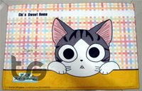 big front doors - Cartoon cat big eyes Front door mat bathroom mat soft warm water absorption D09015 Cartoon cat big eyes carpet CM