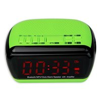 Wholesale Digital Bluetooth Speaker Dual Alarm Clock FM Radio With Sleep Timer Android APP Control Y4367