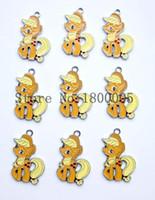 achat en gros de gros petit pendentif poney-En gros! Haute Qualité 100 pcs Cartoon animal jaune petit cheval Charms mignon Boucles d'oreilles Poneys Pendentif bricolage fabrication de bijoux