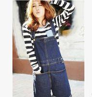 Wholesale denim shorts female summer women shorts loose plus size overalls jeans jumpsuit S L