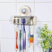 bathroom sink pedestals - Bathroom Accessories Toothbrush SpinBrush Suction Holder Stand Rack Plastic Set Promotional
