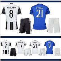 Wholesale 16 JUVentus soccer jerseys Men top thailand quality BUFFON CHIELLINI DYBALA DANI ALVES etc Home Away Soccer Jerseys