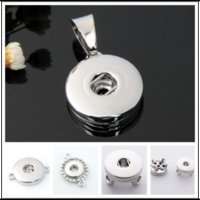 Wholesale 5 Style Noosa snap button jewelry metal ginger mm snap button jewelry fit for snap bracelet b113