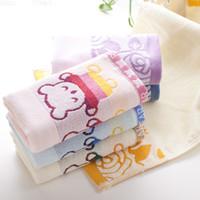 Wholesale 2016 Factory Cotton Jacquard Towel Terry Towel Three Children Bear Cotton Jacquard New Child Towels HY1252