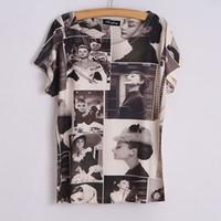 audrey hepburn shirt - Milk Silk women hipster kawaii t shirt audrey hepburn printed summer style celebrities casual wear one direction shirt junior