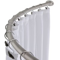 bathtub curtain rods - Brushed Nickel Curved Shower Curtain Rod Bath Area Bathtub Accessory