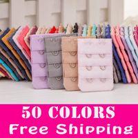 Wholesale 50 Colors Women Bra Extenders Rows Hooks Back Buckle Clasp High Quality Bra Strap Extender