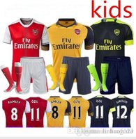 arsenal youth - 16 Kids Jerseys Sets youth boys child kits OZIL WILSHERE RAMSEY ALEXIS GIROUD Arsenals Jerseys Kits Suit With Short Socks