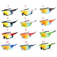 Wholesale Women Men Jawbreaker Bicycle Sunglasses Outdoor Bicycle Glasses UV400 Polarized Cycling SPORTS Eyewear Goggle Lens