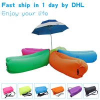 Cheap Fast Inflatable Camping Sofa banana Sleeping Lazy Chair Bag Nylon Hangout Air Beach Bed chair Couch Lay bag Inflatable sofa 10 Seconds ope