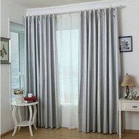 bedroom hooks - Thickened finished curtain shade curtain full shade cloth sun heat insulation and UV protection custom curtain
