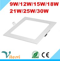 Wholesale SMD2835 square LED Panel light W W W W W W W LED downlight AC85 V indoor embedded ceiling lamp