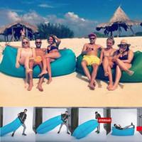 Cheap Lamzac Hangout Fast Inflatable Lounger Air Sleep Camping Sofa KAISR Beach Nylon Fabric Sleeping Bag Bed Lazy Chair outdoor
