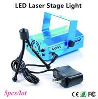 Wholesale 5pcs Mini Laser Stage Light Holiday Sale mW Mini Green Red Laser DJ Party LED Laser Stage Lighting Disco Dance Floor Lights