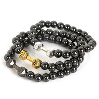 magnetic hematite jewelry - Best Selling Bracelet Non magnetic Hematite stone beads Live Lift Dumbbell Bracelet Fit For fashion Bracelets Jewelry making