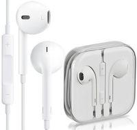 Wholesale Best Quality Headphone Original Earphone iphone5 s Earbuds iPhone s plus ipad Headset mm Stereo Handsfree with Remote Mic Earphones