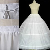 Wholesale Cheap Three Hoops Petticoats for Ball Gowns Adjustable Sizes Crinoline Bridal Accessories Underskirt for Wedding Prom Quinceanera Dresses