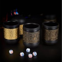 beer tap kit - Bar Dice Cup Game Props Whiskey Shaker Cocktail Set Bartender Tool Kit Shaker Bar Tool Kit Beer Bottle Cap Vino Accesorios Bar Tap D19