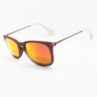 polarized sunglasses - 2016 Top Brand High Quality Erika Sunglasses Men Women Designer Black Velvet Matte Frame Orange Gradient Flash Lens Case Box mm
