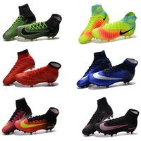 Wholesale Cheap Boys High Ankle Magista Superfly FG Soccer Shoes CR7 Mens Football Shoes Mercurial Superfly Soccer Cleats Outdoor Women Football boots