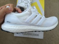 Wholesale Final Kanye West Ultra Boost All White Color Unisex Men and Women Originals Quality Shoes Boots Low Fashion