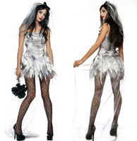 adult bride costumes - sexy Adult Zombie Bride Costume Ladies Wedding Halloween Fancy Dress Outfit UK S L