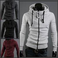 Wholesale 2016 hot sale assassins creed zipper hoodie hooded jacket slim men coat sportswear Autumn and winter warm jacket large size xl