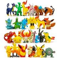 Wholesale Poke Action Figures Multicolor CM inch mini cartoon pokémon go children DIY toys Pikachu Model Decoration toys