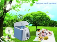 Wholesale 7 l car small refrigerator v car with household voltage transformers multi purpose mini car refrigerator hot and cold dual a bag