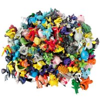 Wholesale 144 Style Poke Figures Toys cm Multicolor Free DHL Children cartoon Pikachu Charizard Eevee Bulbasaur Suicune PVC Mini Model Toy