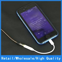 apple charger converter - For Iphone Iphone Plus Earphone Connector Adapter Cable mm Female to Lighting Male Headphone Headset Converter Cord Line opp package