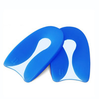 Wholesale Medical Silicone gel U Shape Plantar Fasciitis Heel Protector Spur Cushion Pad Pain Bone Spurs Achilles Shoe Inserts Insole