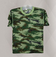 Wholesale Tennis camouflage breathable T shirt short sleeved quick dry training camouflage T shirt