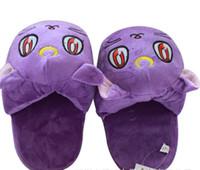bedroom slippers - Plush Slippers Anime Sailor Moon Soft Plush Toys Cartoon Slipper Warm Indoor Home Purple Luna Cat Slipper Soft Velvet Bedroom Flip Flop