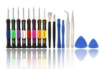 Wholesale 16 in Repair Tools Screwdrivers Set Kit For Mobile Phone iPhone S S S GS iPad Samsung