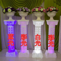 Photo Booth Props area table - 98 cm Height LED Luminous Hollow white plastic Roman Columns wedding Roman Pillar Wedding Welcome Area Decoration Photo Booth Props Supplies
