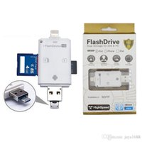 Wholesale 3 in USB Micro SD SDHC TF OTG Card Reader for iPhone s s ios Device Android Cellphone PC