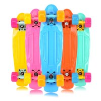 assembly long - Musia Pastel Plastic Mini Cruiser Skateboard quot Retro Longboard Skate Board Complete No Assembly Required