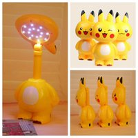 Wholesale POKE Led Table Lamp Poke Pikachu Portable Energy saving Desk Lamp With Power Charger Desk Lamp Table Light Daylight KKA804