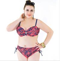 Wholesale Bikini Plus size Swimwear Big Bra Hot Sexy Lingerie Push Up Swimsuit For Big women Beach Bathing Suit Big Women Swimming suit