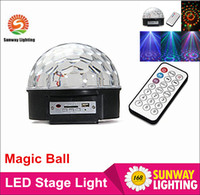 ball sd card - Hot sale DJ LED laser light Crystal magic ball laser stage lighting USB MP3 DJ disco light SD Card controller