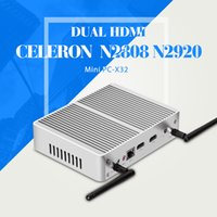 barebone tablet pc - Mini PC Tablet Case Celeron N2808 N2920 Barebone Fanless Motherboard HDMI USB Laptop Thin Client
