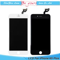 Wholesale LCD Replacement for iphone S Plus Digitizer With Full Assembly Display With Touch Screen Digitizer Black and White DHL