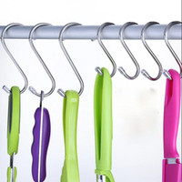 Wholesale Sainwin Stainless steel hangers metal S hook bag hooks kitchen room hanging home storage organization tools